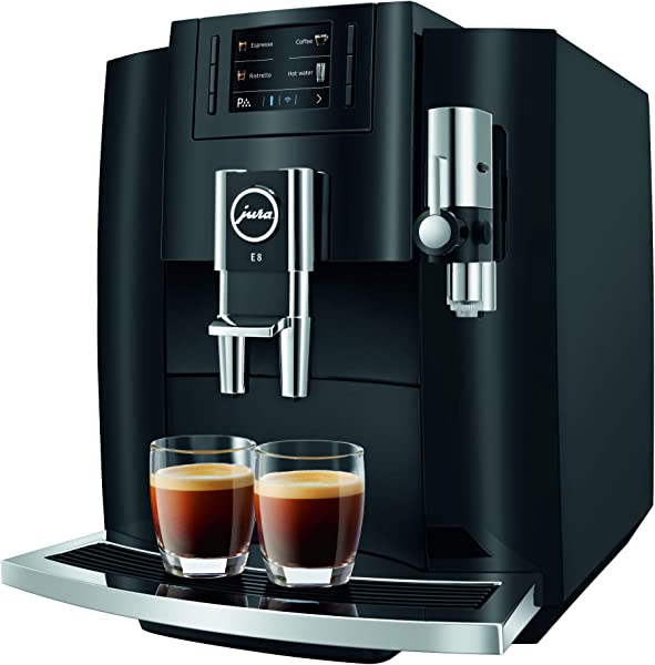 Jura E8 Piano Black Automatic Coffee Machine