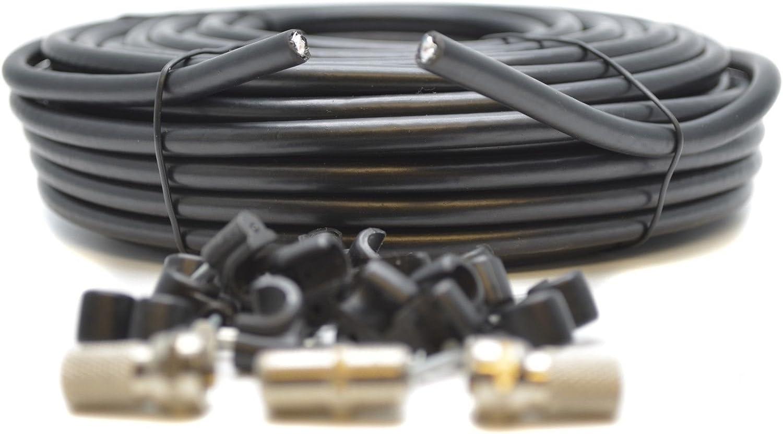 Generic - Cable coaxial para televisor HD RG6 F (Cable coaxial de ...