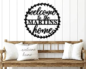 Personalized Welcome to Our Home Metal Sign for Front Porch Welcome Sign Custom Metal Welcome Home Sign Family Name Welcome Last Name Sign