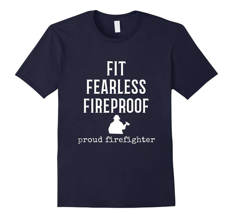 Mens Proud Firefighter T-Shirt Gift idea for a fireman Adult Mens-T-Shirt