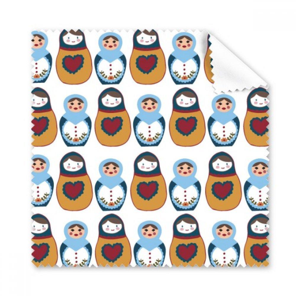 ロシア人形ポスターMatryoshka国Culture Glasses布クリーニングクロスギフト電話画面クリーナー5点   B071FK19LG