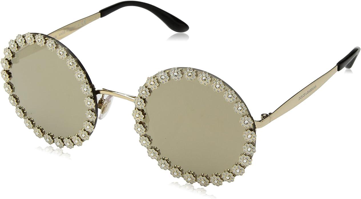 c0d48d41bdb Dolce   Gabbana Women s Daisy Round Sunglasses