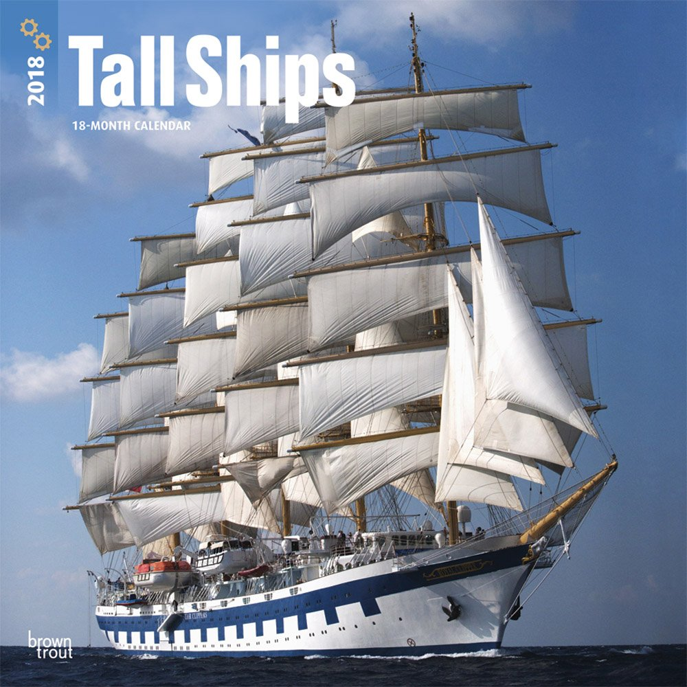 tall-ships-2018-12-x-12-inch-monthly-square-wall-calendar-boat-sailing-multilingual-edition
