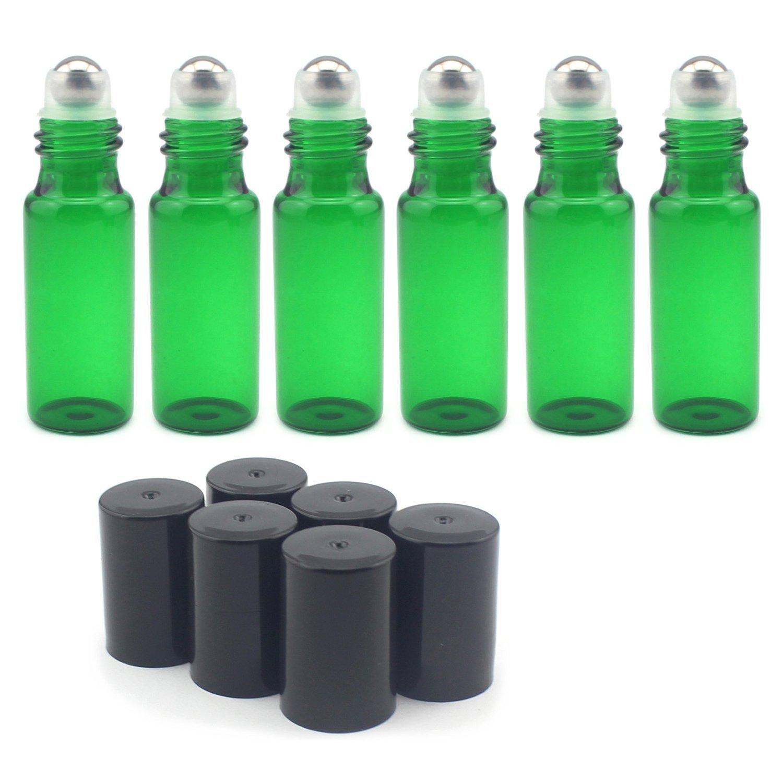 Juego de 15 botellas de vidrio de 5 ml con bola de metal para aceites esenciales, aromaterapia, perfumes, bálsamo labial: Amazon.es: Industria, ...