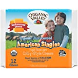 Organic Valley, Organic Unprocessed American Cheese Singles, 8 Ounces, 12 Slices