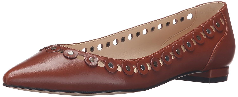 Nine West Women's Adaminia Leather Pointed Toe Flat B01ERP6DAE 7.5 B(M) US|Cognac