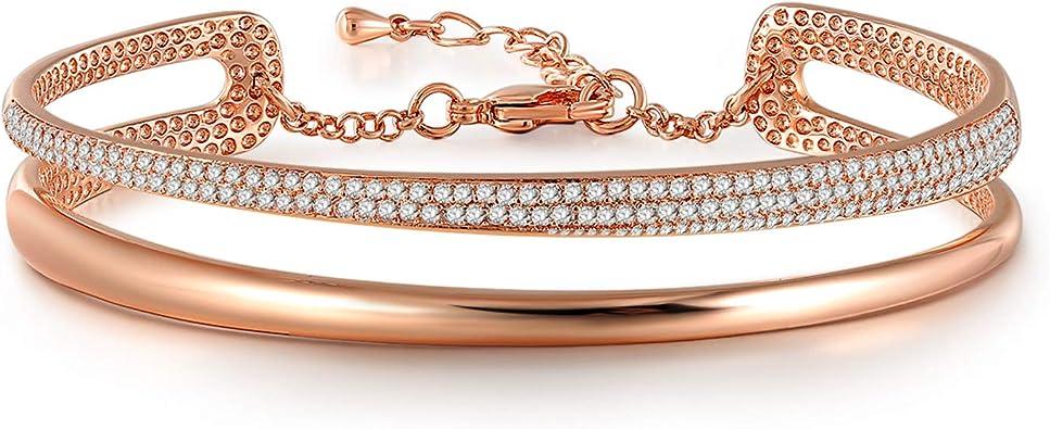 bracelet femme swarovski or rose