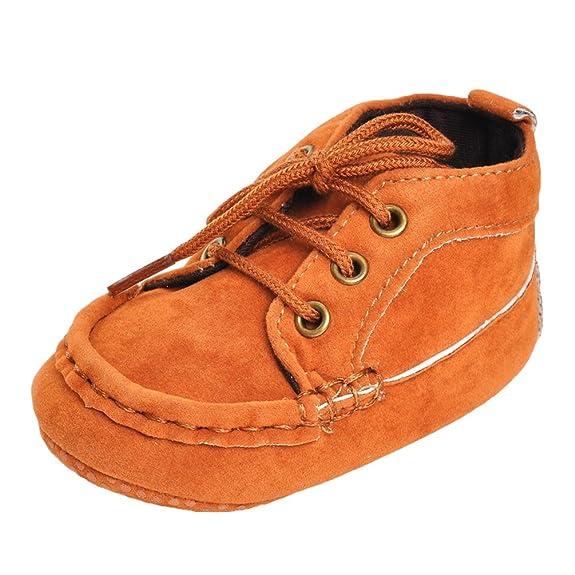 CHENGYANG Neonati Bambini Scarpe da Ginnastica Antiscivolo Morbide Sneakers Scarpine Prima Infanzia (Cachi#07, 12cm)