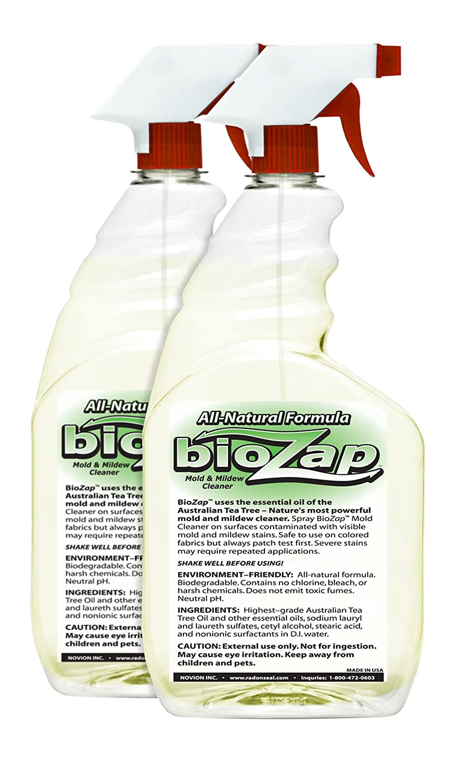BioZap™ Mold Cleaner (2-Pack) - Beats Using Chlorine | Safe, All-Natural,  Long Lasting | Breaks Down