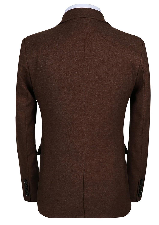 MOGU Mens 3-Piece Slim Fit Casual Winter Dress Suits Set Blazer  ...