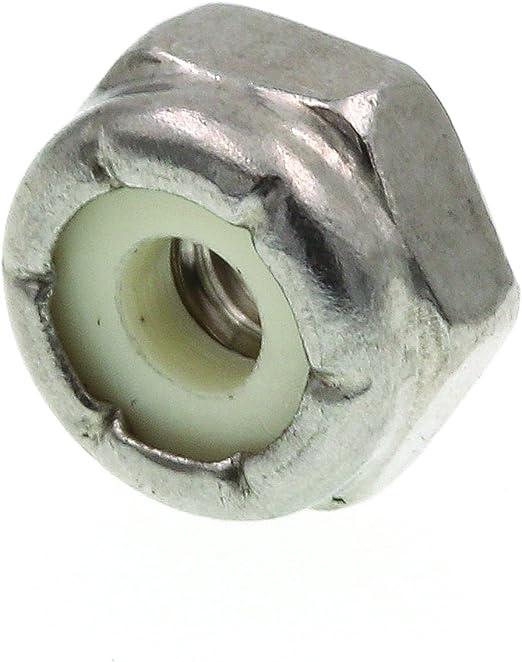 Prime-Line 9075085 Nylon Insert Lock Nuts #10-24 25-Pack Grade 18-8 Stainless Steel