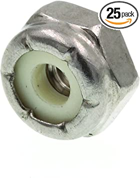 Prime-Line 9074800 Nylon Insert Lock Nuts #4-40 50-Pack Prime-Line Products Grade 2 Zinc Plated Steel