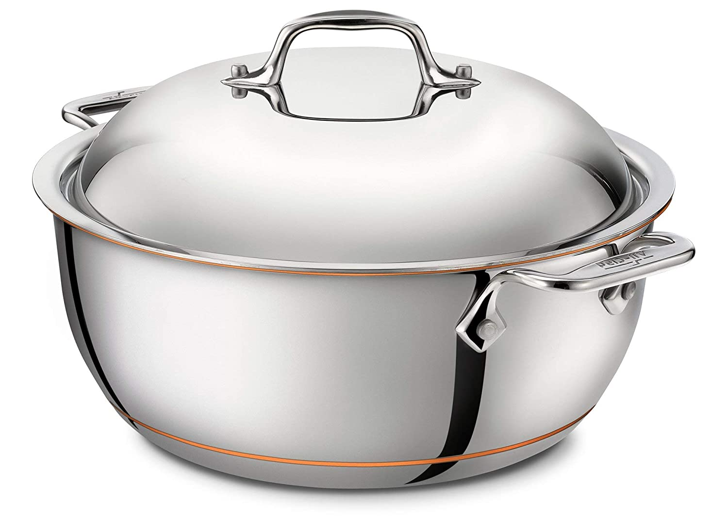 All-Clad 6500 SS Copper Core 5-Ply Bonded Dishwasher Safe Dutch Oven with Lid / Cookware, 5.5-Quart, Silver