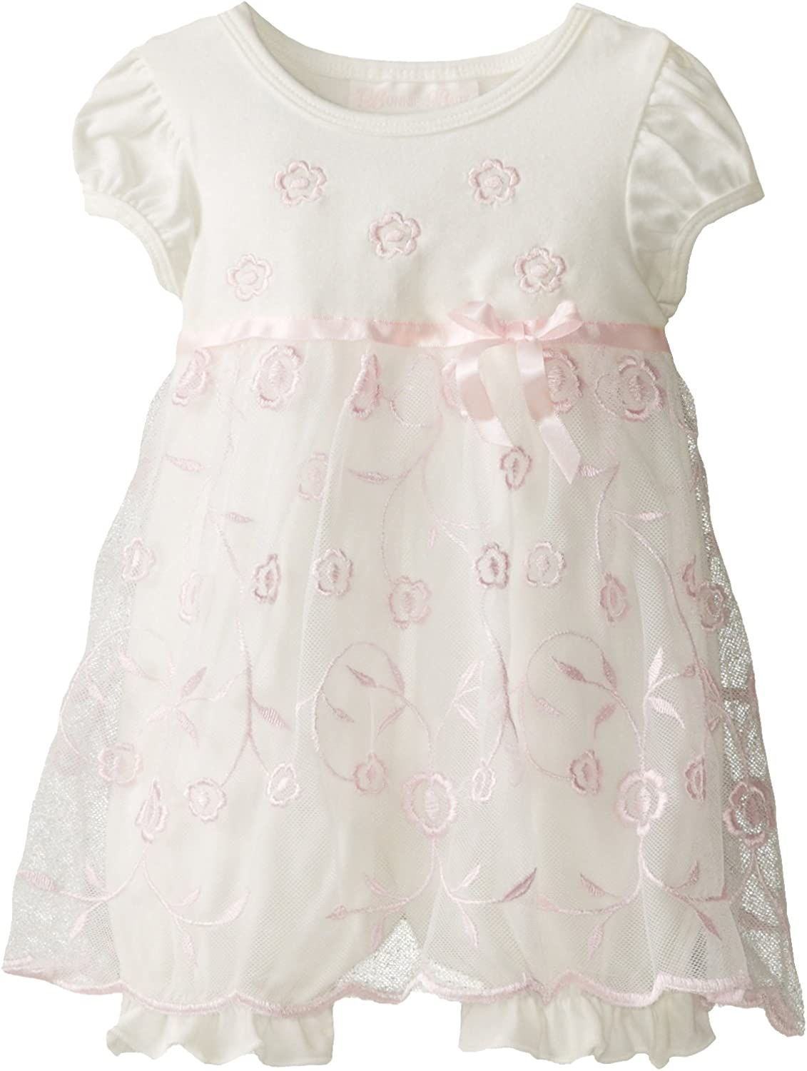 Bonnie Baby Baby-Girls Newborn Allover Embroidered Coverall Dress