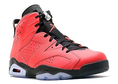 NIKE Mens Air Jordan 6 Retro Toro Infrared 23-Black Leather Basketball Shoes  Size 8