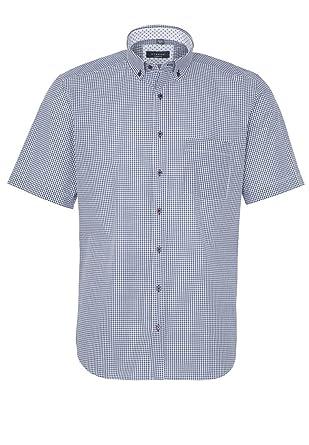 Eterna - Comfort Fit - Seersucker Herren Kurzarm Hemd mit Button-Down Kragen  (2255 acaff72da5