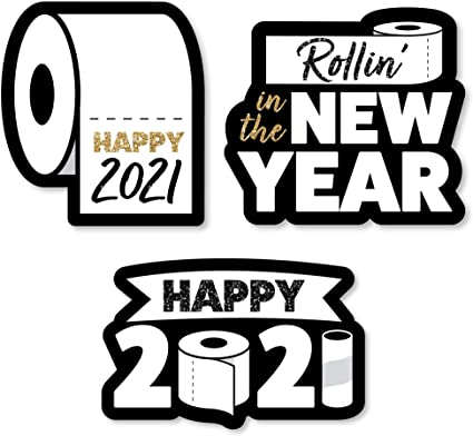 Party Mini Favor Boxes Set of 12 2021 New Year/'s Eve Party Treat Candy Boxes Big Dot of Happiness Rollin in The New Year