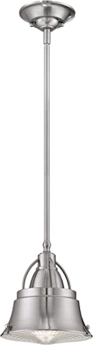 Quoizel CDY1508BN Cody Mini Pendant Lighting, 1-Light, 100 Watts, Brushed Nickel 9 H x 8 W