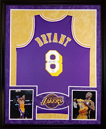 d3f3cbb03a4 Kobe Bryant Los Angeles Lakers Autograph Signed Custom Framed Jersey  PSA/DNA Certified