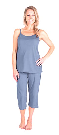 Cool-jams New Moisture Wicking Cami Capri Pajama Set (S-XL) at Amazon  Women s Clothing store  28e045994