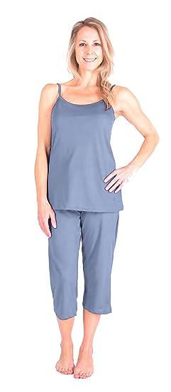 8ab226c150 Cool-jams New Moisture Wicking Cami Capri Pajama Set (S-XL) at Amazon  Women s Clothing store