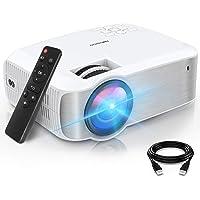 TOPVISION Hemmabioprojektorer, Native 1080P Bärbar Projektorer Stöder 1080P Full HD, 6500 Lumen Videoprojektorer med 300…