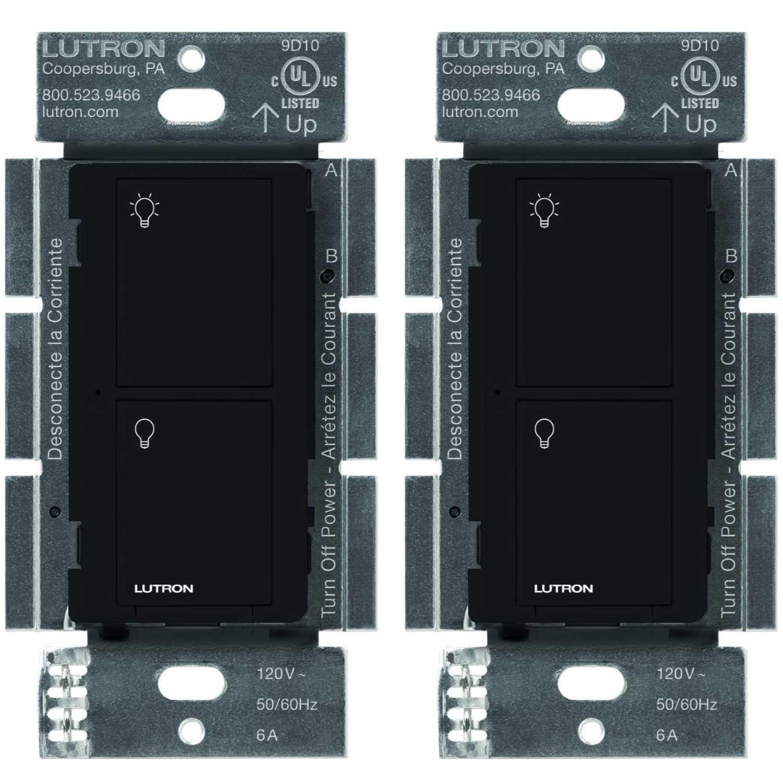 超人気高品質 Lutron Caseta (2個パック) ワイヤレススマート照明スイッチ すべての電球タイプとファン用 PD-6ANS-BL ブラック B07DVJ35SW (ブラック) Alexa Apple HomeKitとGoogle Assistantに対応 (2個パック) (ブラック) B07DVJ35SW, しぇんま屋:30eb6533 --- itourtk.ru