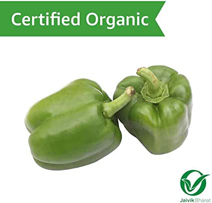 Fresh Organic Capsicum, Green, 500g