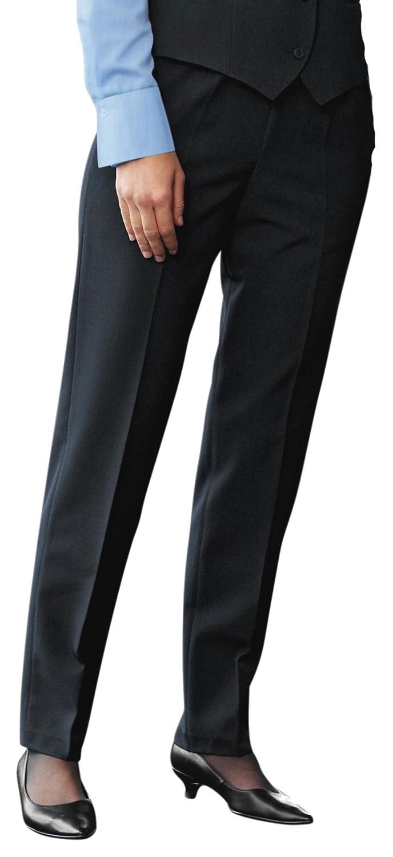 Simon Jersey Ladies Wool Mix Bootleg Trousers Navy Blue