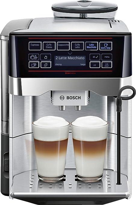 Bosch TES60729RW Independiente Totalmente automática Máquina espresso 1.7L Negro, Acero inoxidable - Cafetera (