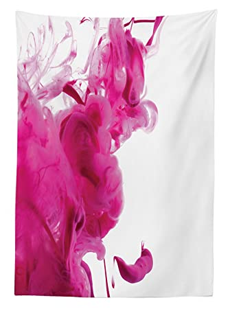 Vipsung Magenta Decor Tischdecke Farbe Splash Pastell Farbigen