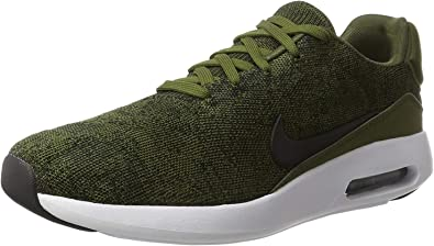 Nike Mens Air Max Modern Flyknit Fabric Low Top Lace Up, Green, Size 12.0