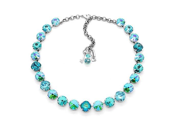 1185fbadb2359 Amazon.com: MERMAID KISSES 12mm Statement Necklace Made With Genuine ...