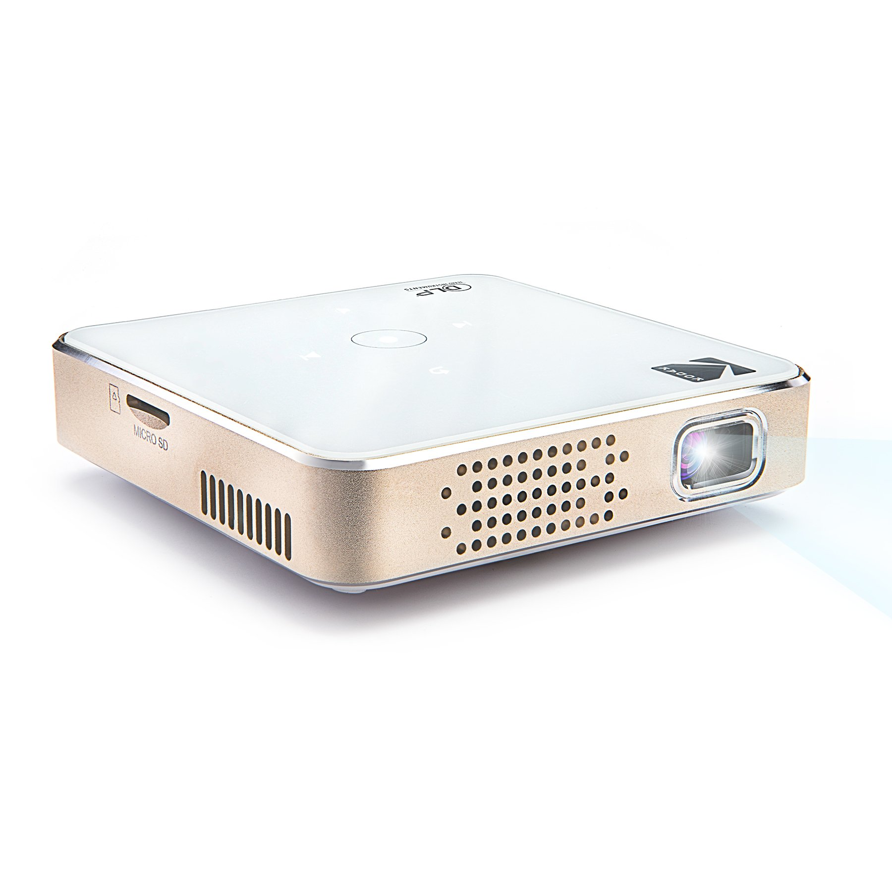 """Kodak Ultra Mini Portable Projector - 1080p HD LED DLP Rechargeable Pico Projector - 80"""" Display, Built-in Speaker - HDMI, USB and Micro SD – Compatible with iPhone iPad, Android Phones & Devices"""