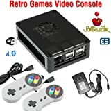 Raspberry Pi 3 based retro games emulation console, 16GB edition, 2x snes type controller, Retropie