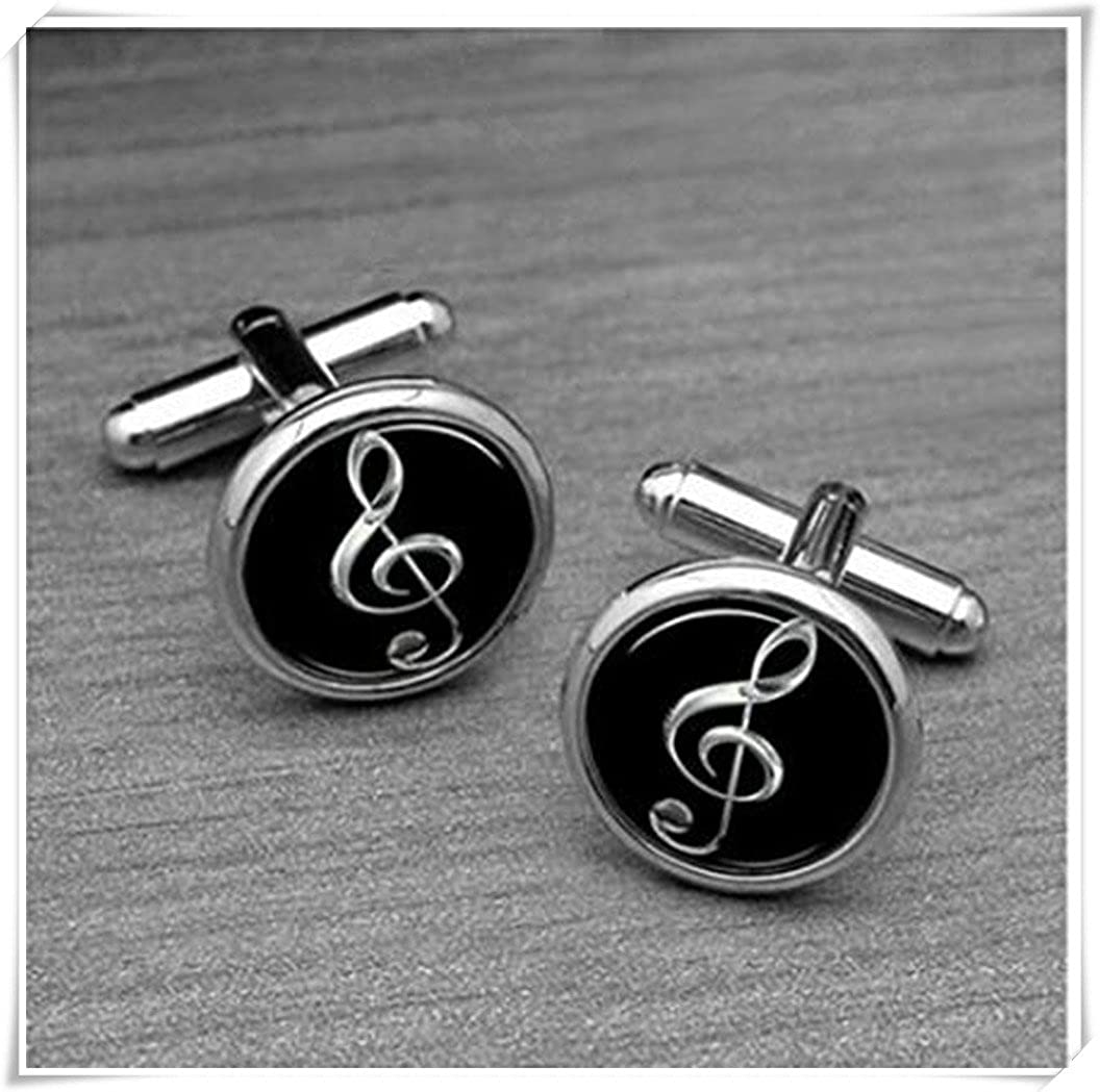 Silver Music note Cufflinks CX28