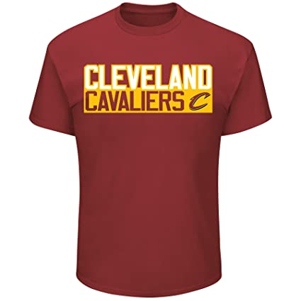 2f19f0ae0 Lebron James Cleveland Cavaliers  23 NBA Men s Vertical Player T-shirt  Garnet (Small