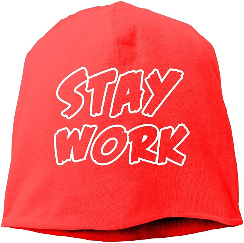 Janeither Fashion Solid Color Stay Work Funny Logo Warm Cap for Unisex RoyalBlue One Size