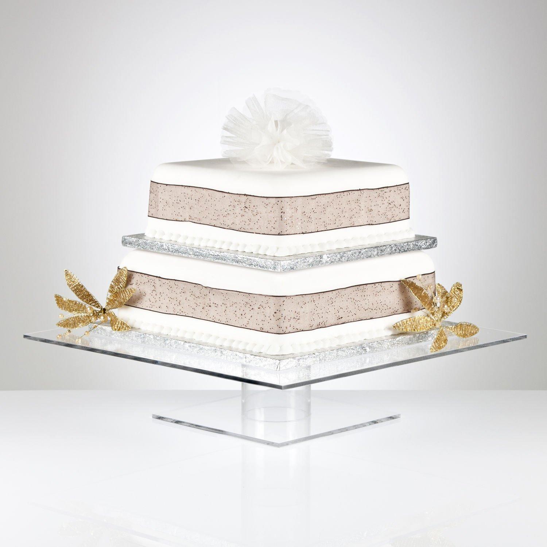 Square Pedestal Cake Stand Amazon Kitchen & Home