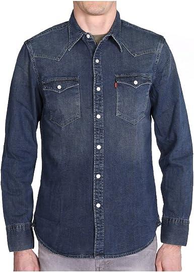 Levis Barstow Western Camisa, Azul (Sandy Tint Dark), XX-Large para Hombre: Amazon.es: Ropa y accesorios
