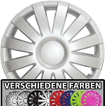 Eight Tec Handelsagentur Farbe Größe Wählbar 16 Zoll Radkappen Agat Silber Passend Für Fast Alle Fahrzeugtypen Universal Auto