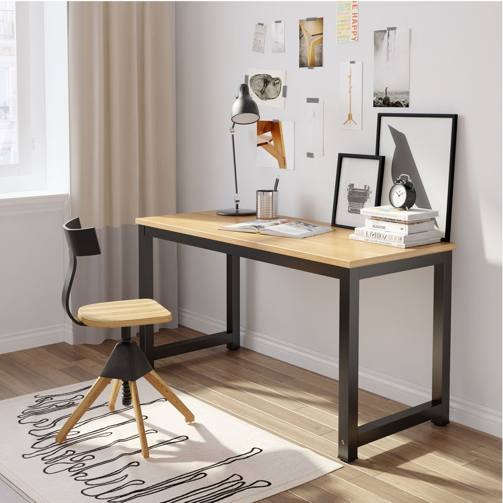 Tribesigns Modern Simple Style Computer Desk PC Laptop Study Table Workstation for Home Office Black