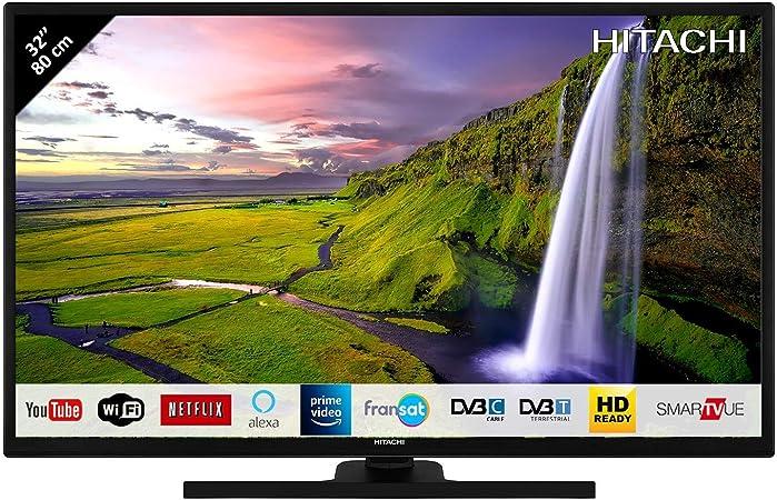 HITACHI 32HE2100 TELEVISOR 32 LCD Direct LED HD Ready Smart TV 400Hz HDMI USB Grabador Y Reproductor Multimedia: 153.91: Amazon.es: Electrónica