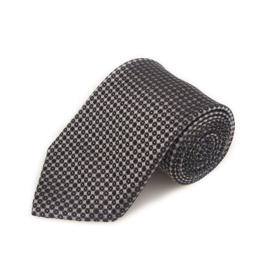Robert Talbott Best Of Class Black And Grey Neat Woven Silk Tie