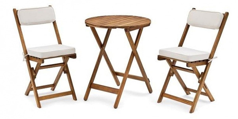 belardo minoa balkon set bistro set akazie ge lt incl beigen polstern 3 cm g nstig. Black Bedroom Furniture Sets. Home Design Ideas