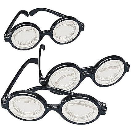 0751979394 Amazon.com  Black Frame Nerd Glasses (12 Pack) Plastic. Costume ...