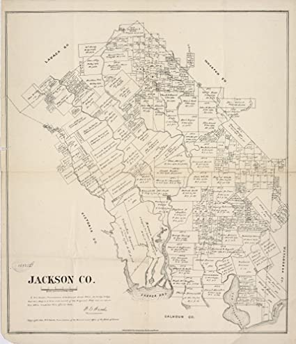 Jackson County Web Mapping Amazon.com: Vintage 1880 Map of Jackson County   Shows