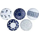 波佐見焼 軽量取皿セット 藍丸紋柄 直径15cm 13309