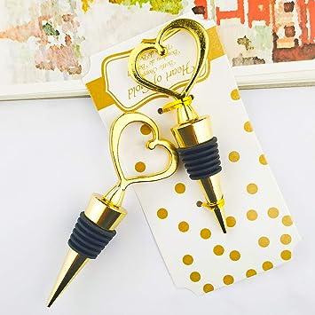 Amazon 12pcs Wedding Favor For Guestsmatal Alloy Heart Wine
