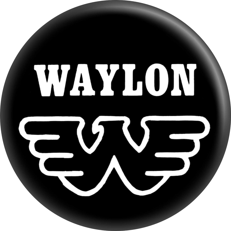 Amazon Waylon Jennings Eagle Logo 1 Round Button Clothing